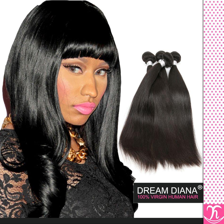 Dream Diana Hair Products Grade 6A Brazilian Straight Remy Virgin Hair  Bundle 8 30 Inch Brazilian Straight Hair Human Hair Extension Body Wave  Human Hair ... 10b3b6655e09