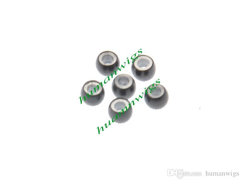 1000 adet 2.9mm Çapı Silikon Mikro Nano Yüzükler / Bağlantılar / Boncuk Nano Yüzükler Saç Uzantıları, Saç Uzatma Araçları, 7 Renkler Ücretsiz Kargo