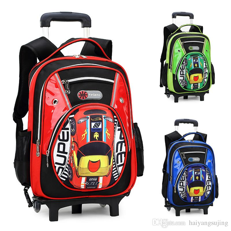 Hot Style 3 Wheels Palou Student Trolley Schoolbag fashion Shoulder ... b423c28babea9