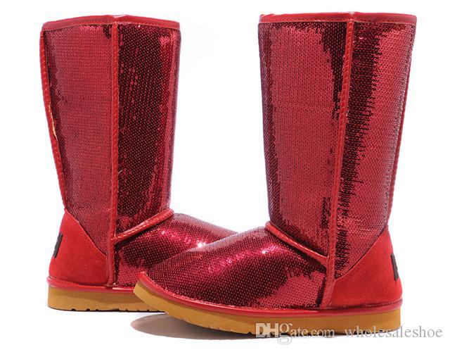 2016 Women'S Classic Tall Boots Womens Boot Glitter Sequins Snow ...