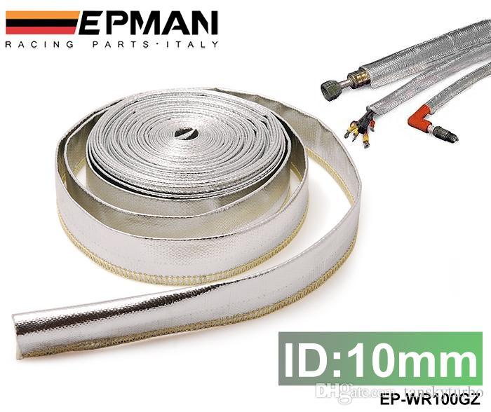 TANSKY - Wysokiej jakości Epman Heat Tarcza Tuleja Izolowana pokrywa Wąż Drutowy Wrap Loom Tube 10mm * 10meter EP-WR100GZ