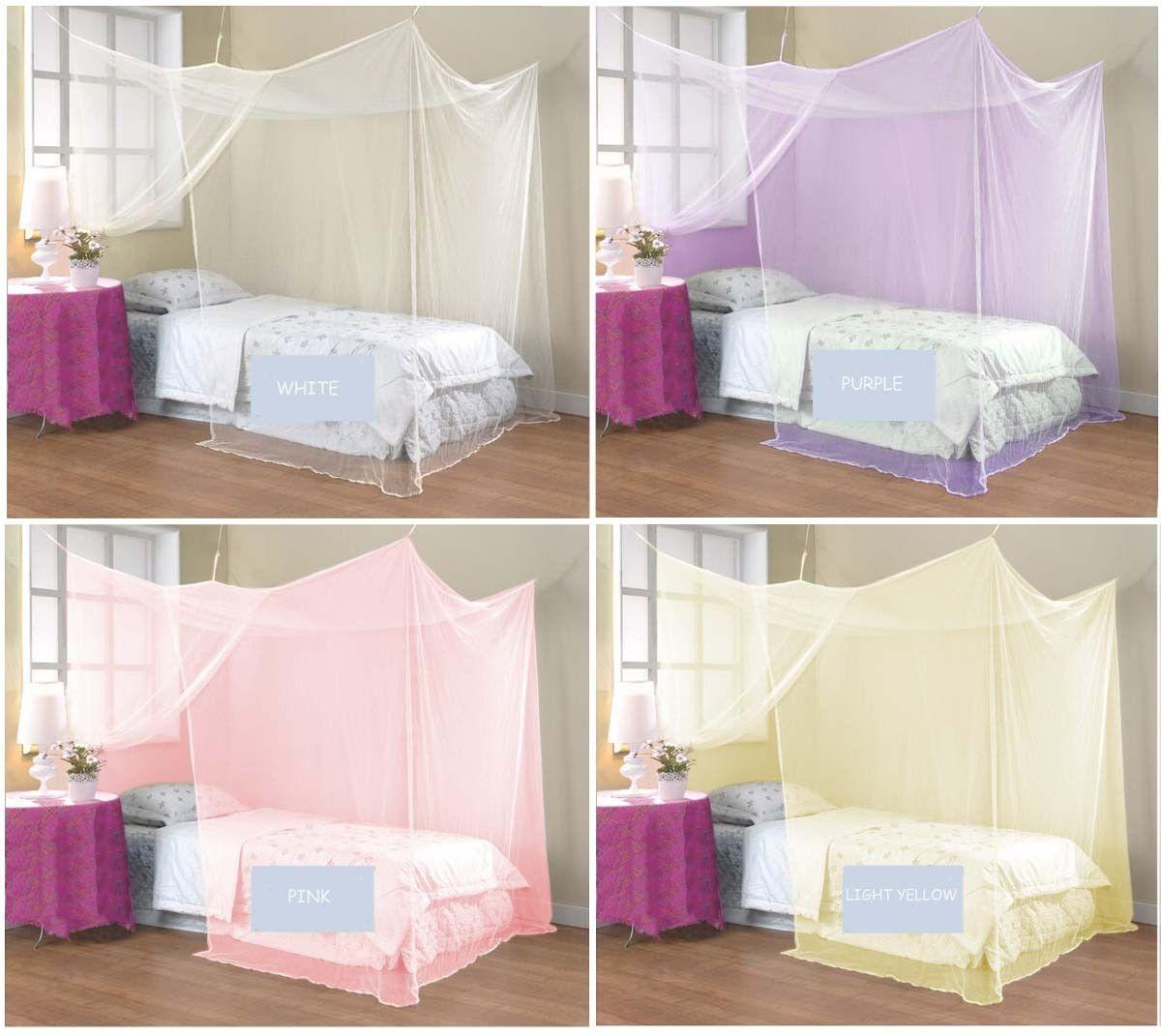 4 Corner Poster Student Family Use Canopy Bed Mosquito Net Twin Full Queen King No See Um Netting Mosquito Net For Cot From Haorizi123 $16.08| Dhgate.Com  sc 1 st  DHgate.com & 4 Corner Poster Student Family Use Canopy Bed Mosquito Net Twin ...