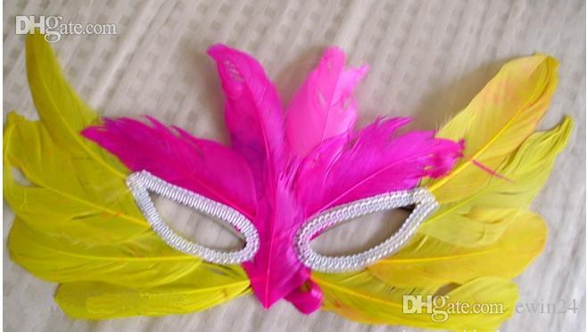 Мода красочные сексуальные женщины перо маскарады маски Хэллоуин маски Марди Гра танцы партии реквизит украшения