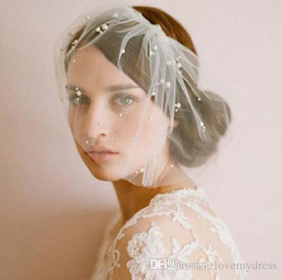 2020 Pérola Acessórios Charming Marfim Tulle Bridal Tiaras Bohemia cabelo Faux Wedding Party acessórias Meninas Headband Headwear cabelo da noiva