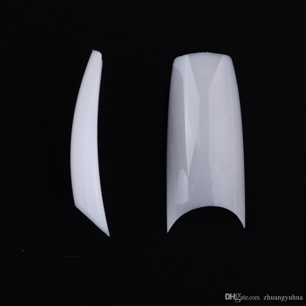 Half Well Nail Tips: MAKARTT Well Less False Nail Tips Half Cover UV Gel