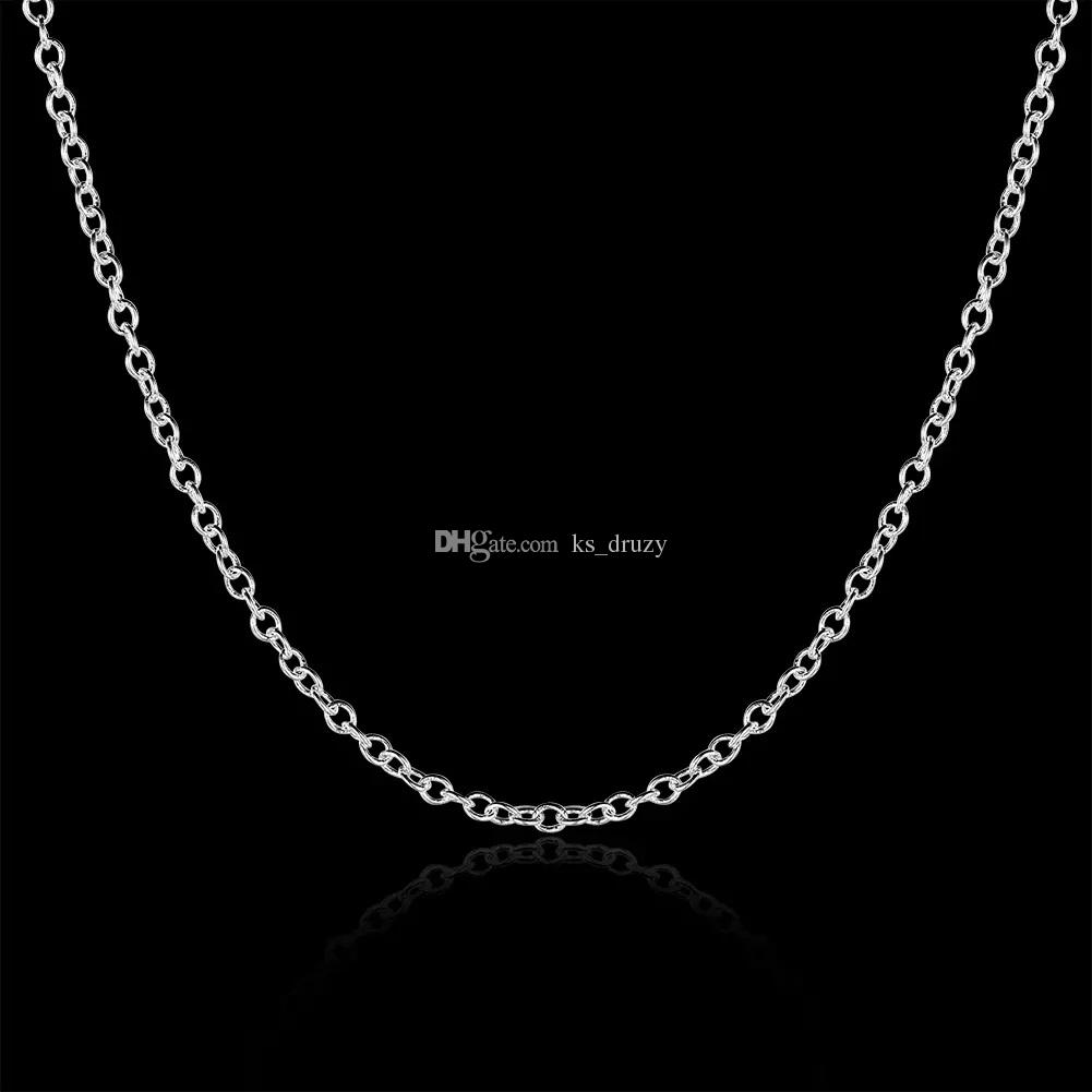 New Arrival 925 Silver Plated 1mm 18inch O Chains Necklace Thin Chain Fit All Pendant Necklace
