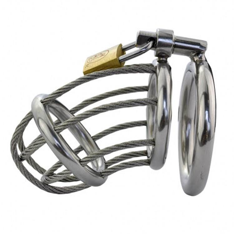 2018 Latest Design Male Stainless Steel Wire Cock Penis Cage Ring Chastity Belt Art Device BDSM Sex toys A165