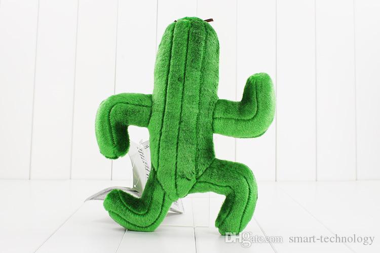 Final Fantasy Cactus Cactuar peluche plante verte en peluche douce Poupées avec Tag cadeau de Noël 24cm approx