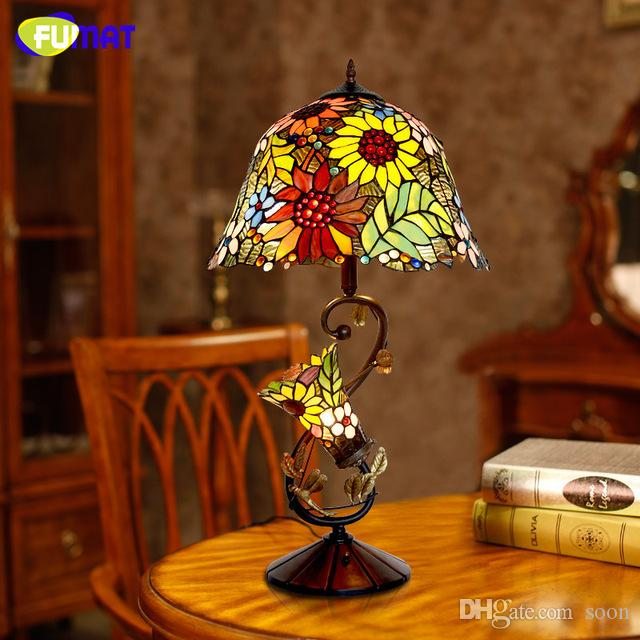 Best fumat stained glass table lamp high quality european style best fumat stained glass table lamp high quality european style sunflower lamps shade lamp living room bedside stand lamp under 3588 dhgate aloadofball Choice Image