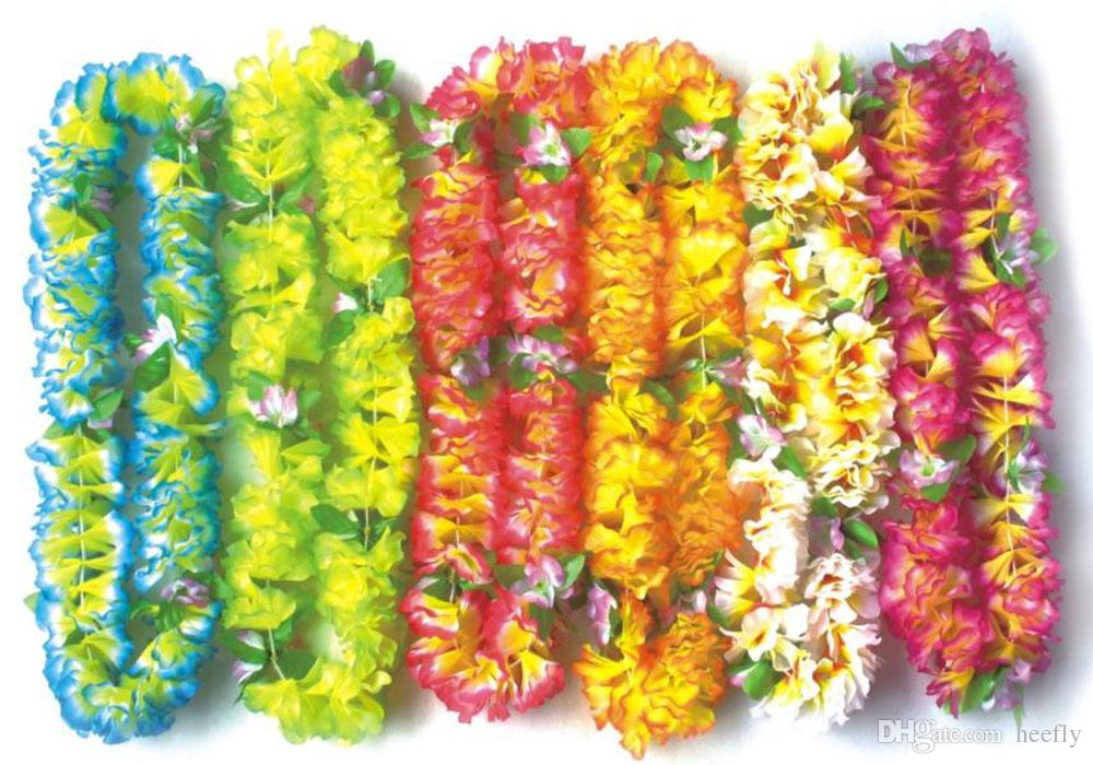 2018 Flowers Artificial Party Wedding Christmas Supplies Hawaiian ...