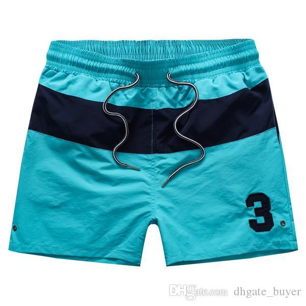 Mma 2015 İpli yaz Erkekler Moda No. 3 yama hızlı kuru şerit polo şort bel Swimwears Spor kurulu sörf kısa pantolon