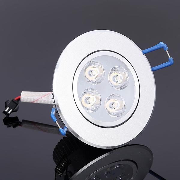 LED Downlight 12 Вт Epistar затемнения LED утопленный вниз свет LED потолок теплый холодный белый спальня светодиодные лампы + драйвер Гарантия 2 года