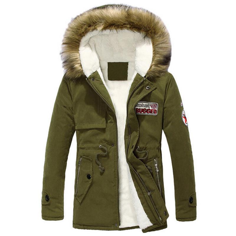 Online Cheap Mens Parka Jackets Fur Hood Plus Size S 4xl Men ...