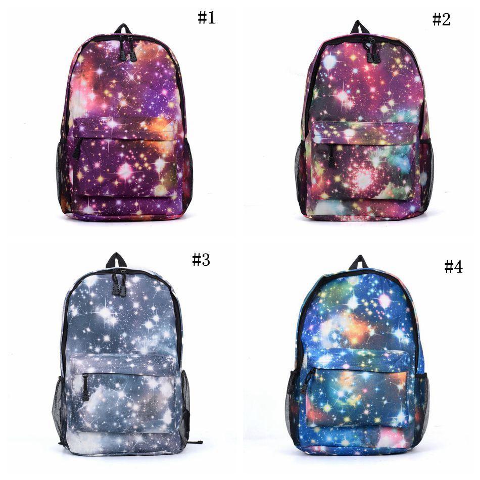 Starry Sky Satchel Backpack Schoolbag Canvas Galaxy Backpacks Rucksack  Campus Travel Sport Bag 4 Styles OOA3768 Osprey Backpacks Book Bags From ... 580017b71895b