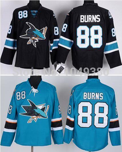 buy popular 68373 b249e Free Shipping Wholesale Men s San Jose Sharks #88 Brent Burns Jersey Black  Green Color Cheap Ice Hockey Jerseys Size M-XXXL