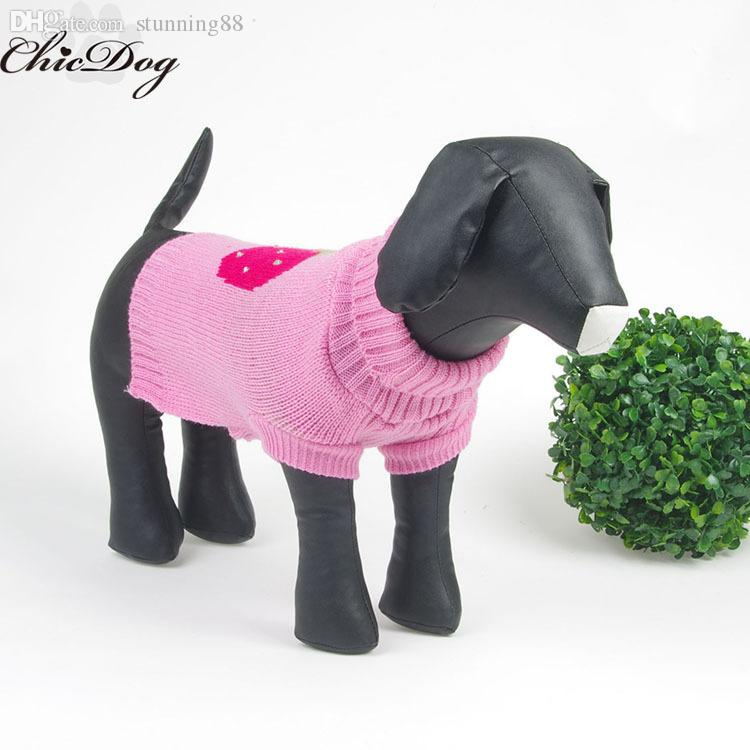 2018 Wholesale Dog Sweater Knitting Pattern Free Wholesale Knitted