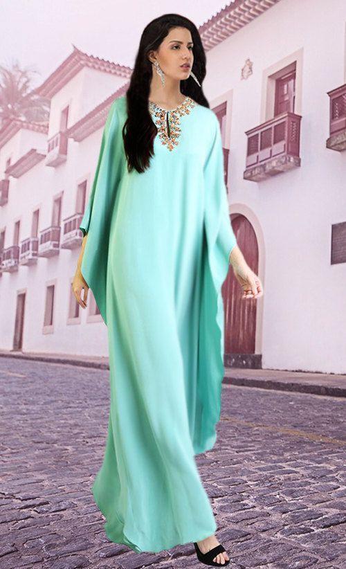 Dubai Kaftans Abaya Jalabiya Ladies Prom Formal Dress frisado Jewel Neck Evening árabe vestidos para vestidos de festa