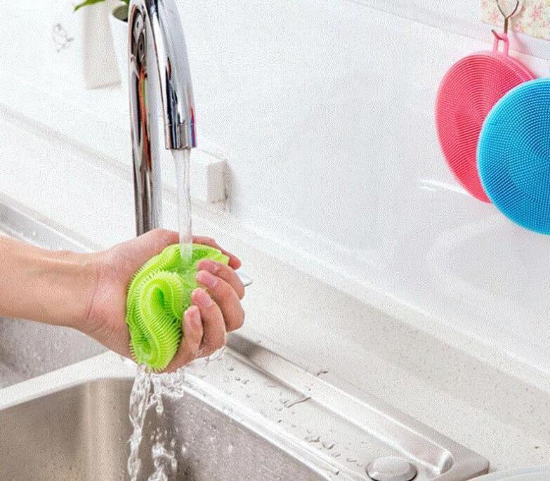 Hotsale Haushaltsreinigungsgeräte Lebensmittelqualität Magie Silikon Reinigungsbürsten Scheuerschwämme Schüssel Topf Pfanne Waschbürste Reiniger Küchengeräte