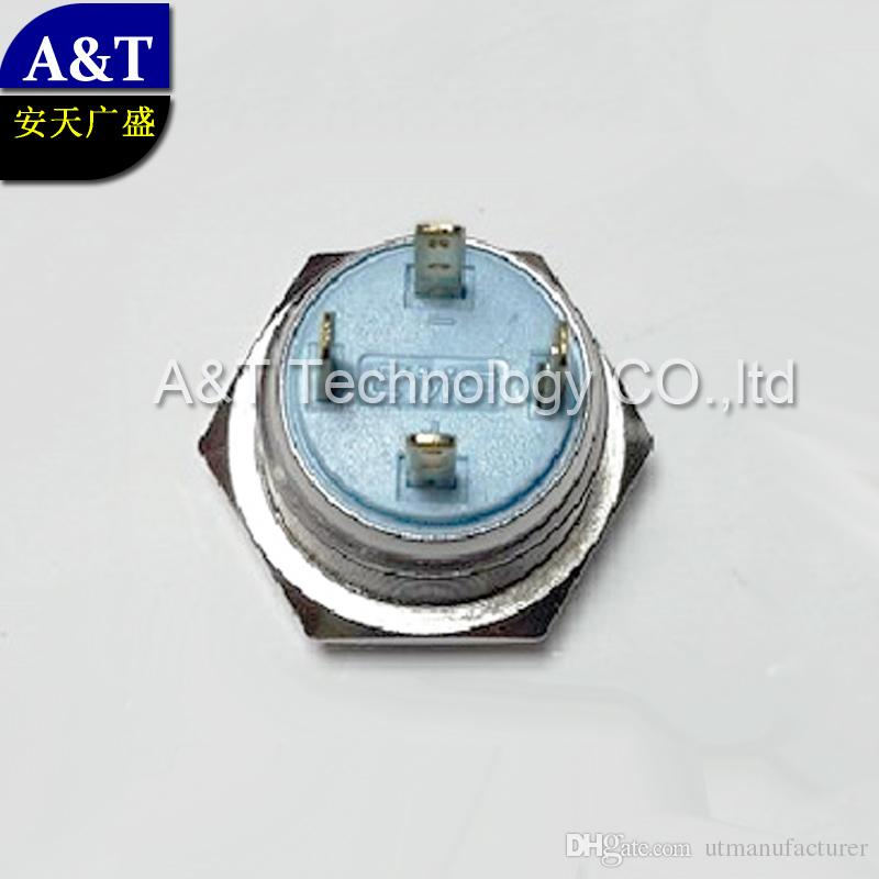 자동차 차량 16mm 12V 블루 그린 레드 화이트 LED가 조명 / 오프 조명 스테인레스 스틸 방수 순간 푸시 버튼 스위치