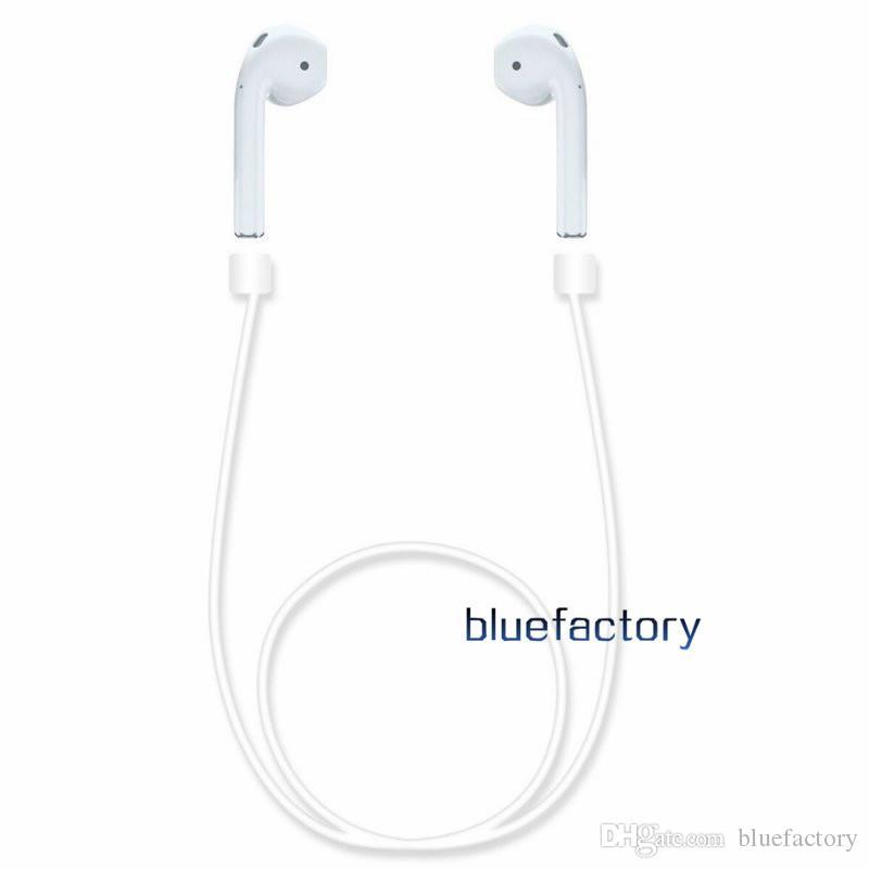 Nuevo Silione AirPods Correa Correa Loop Cuerda Cable Cable Cable anti-perdida Correa para el cuello Para Air Pods Auricular Bluetooth