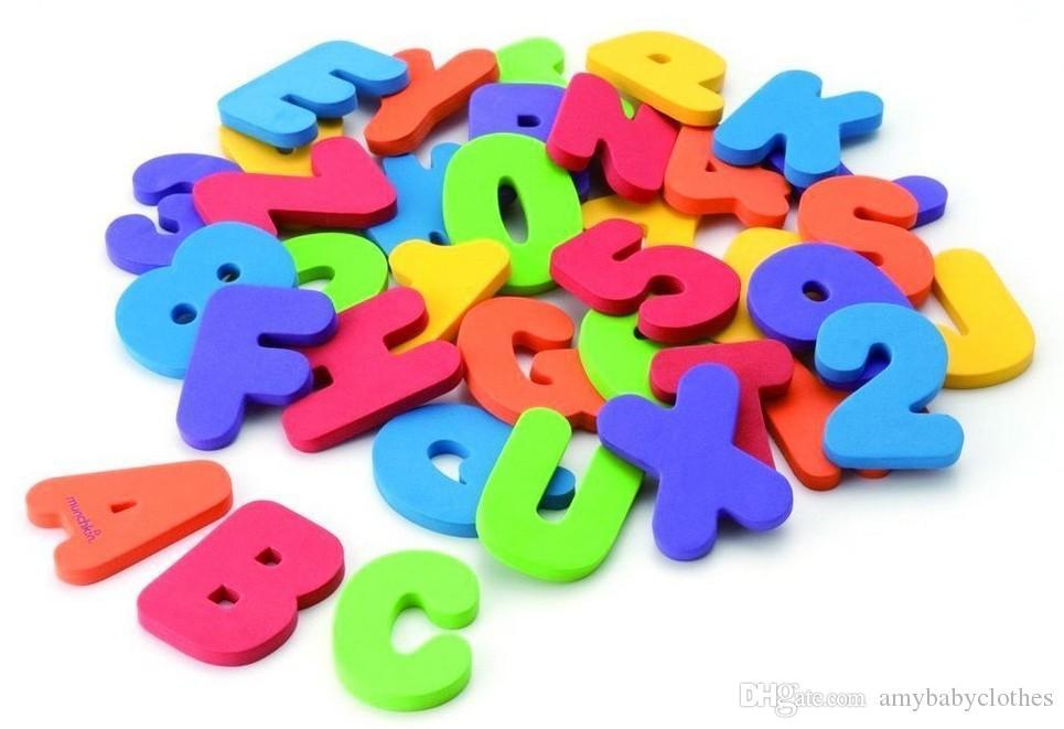 أطفال الأطفال طفل حمام اللعب Letterdigital 36 جهاز كمبيوتر شخصى / مجموعة لعب المياه اللعب الكلاسيكية التعليمية إيفا غير سامة
