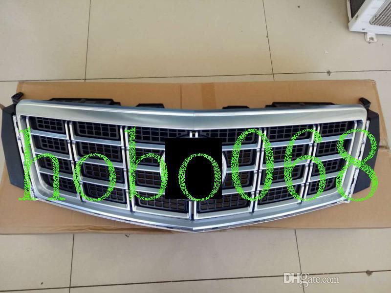 para cadillac xts 2013-15 carauto pára-choque dianteiro grade superior tampa da grade de montagem de decoração com logotipo