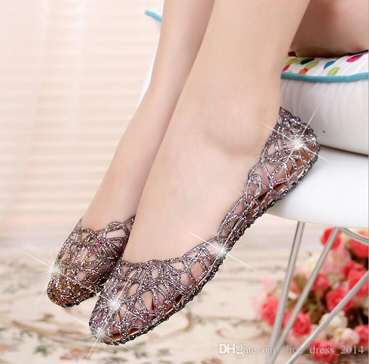 ee8b34893d182c 2016 Summer New Hole Hole Shoes Jelly Sandal Baotou Single Shoes Women S  Fashion Comfortable Flat Sandals Salt Water Sandals Bridesmaid Shoes From  ...
