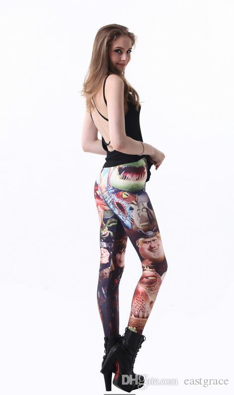 Leggings for women Milk silk printing yoga pants Fashion black sexy leggings Colorful womens tights Slim legging pant wholesale