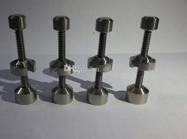 Titanium Nail 14mm 18.8mm Réglable Nail Fumer Métal Click Click Vape Pour Encens Globe Dab Oil Rig Universel Narguilé Accessoires Bong