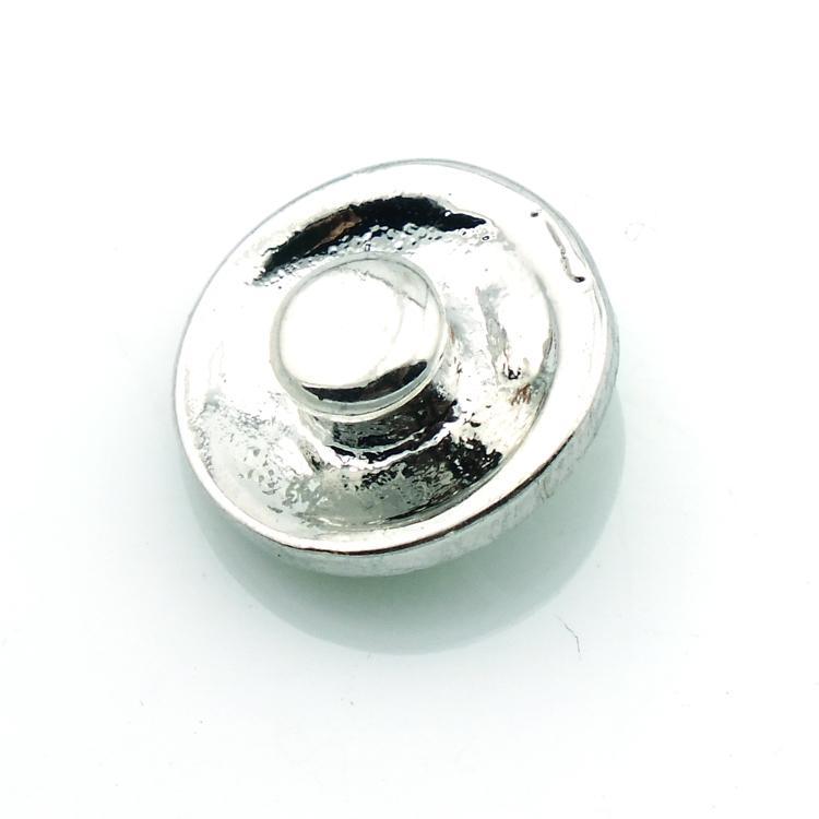 Nouveau mode 12mm petits boutons-pression deux couleurs strass fleur gingembre fermoirs bricolage noosa bracelets bijoux accessoires