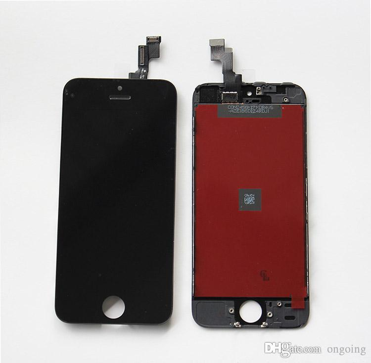 Black White LCD Display Touch Screen Digitizer Full Assembly panels for iPhone 5 5S 5C Replacement Repair Parts &