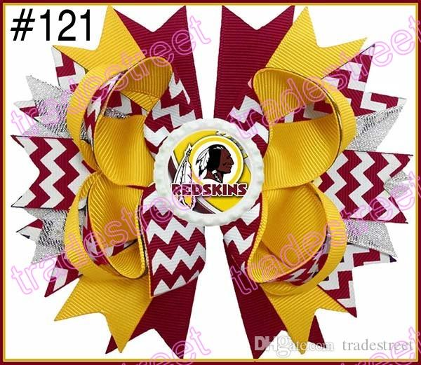 stacked short haircuts 5 college team ribbon hair bows stacked hair bows ncaa 1828 | 300pcs 5 039 039 college team ribbon hair