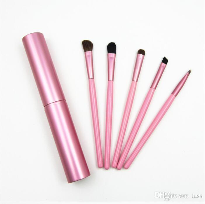 Professional Pony Hair Eyeshadow Brushes Set Makeup Brushes For Eye Makeup Tool Kit With Round Tube