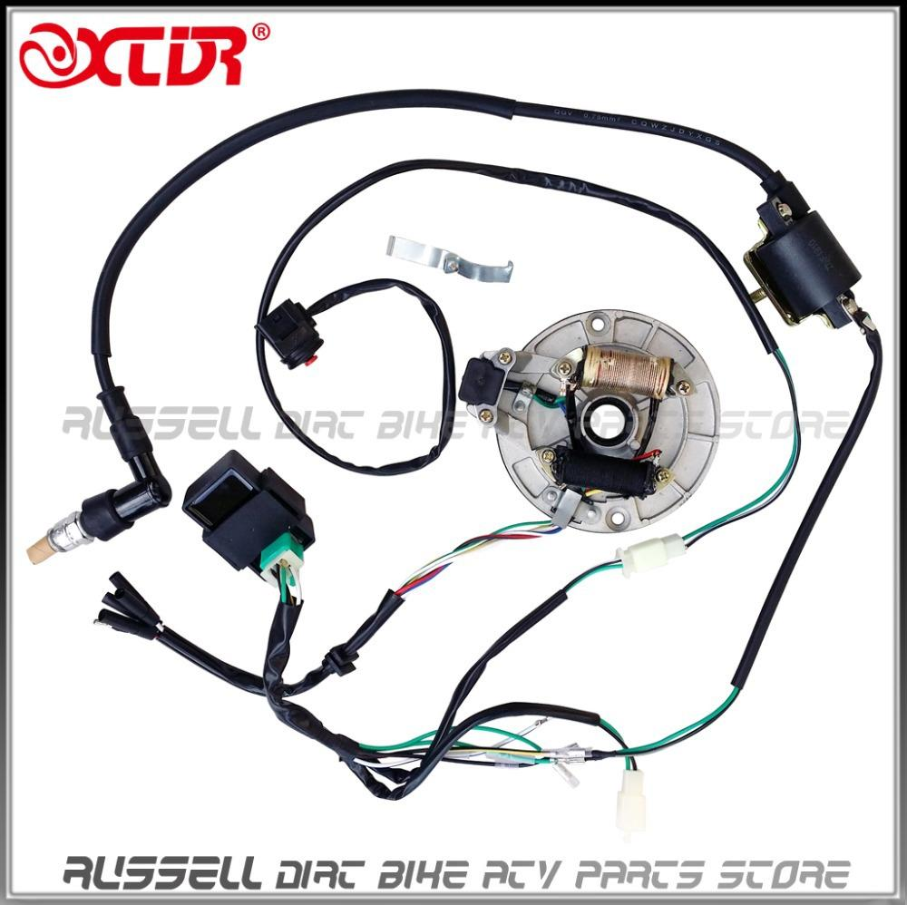 honda pit bike wiring diagram 2017 complete electrics kick start, 50cc 125cc ,magnetic ...
