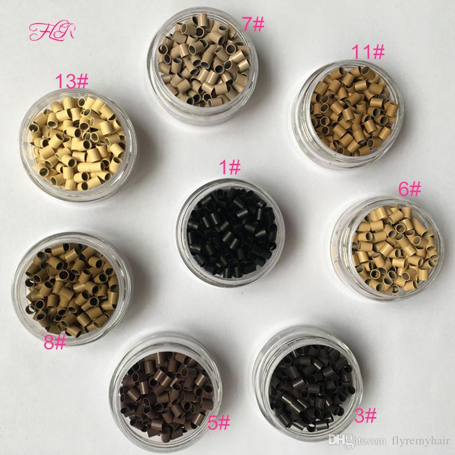 3.2x2.8x3.8mm Micro copper tube mini locks Micro Ring Hair Beads i tip hair extension