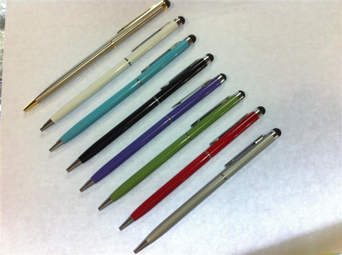 10шт Высокочувствительный 2 в 1 емкостный сенсорный Стилус с Гель чернилами Шариковая ручка для Smart Mobile сотовый телефон Tablet Laptop GPS