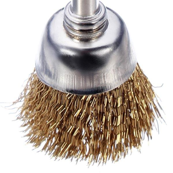 Hot Sale Wire Brass Brush Brushes Wheel Dremel Accessories for Rotary Tools order<$18no track