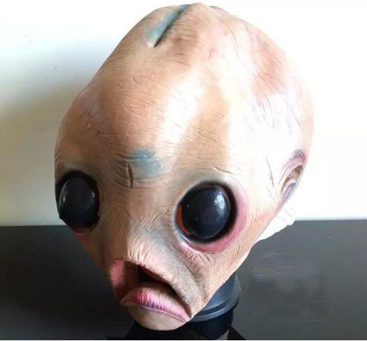 En gros nouveau monstre effrayant Latex Masque de poisson Adulte Halloween Party Masques Costumes Créature de la Black Lagoon Cosplay Merman Props
