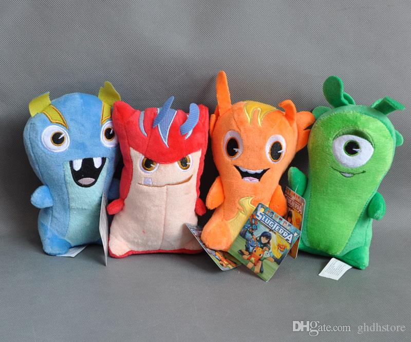 "Free Shipping Cute 4pcs SLUGTERRA Plush Doll Stuffed Toy Bludgeon Burpy Doc Joules 7"" best Christmas gift New"