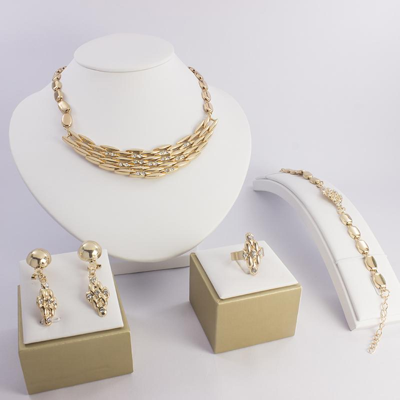 2015 Dubai Africa Fashion Women Dance Party Jewelry Set Simple And