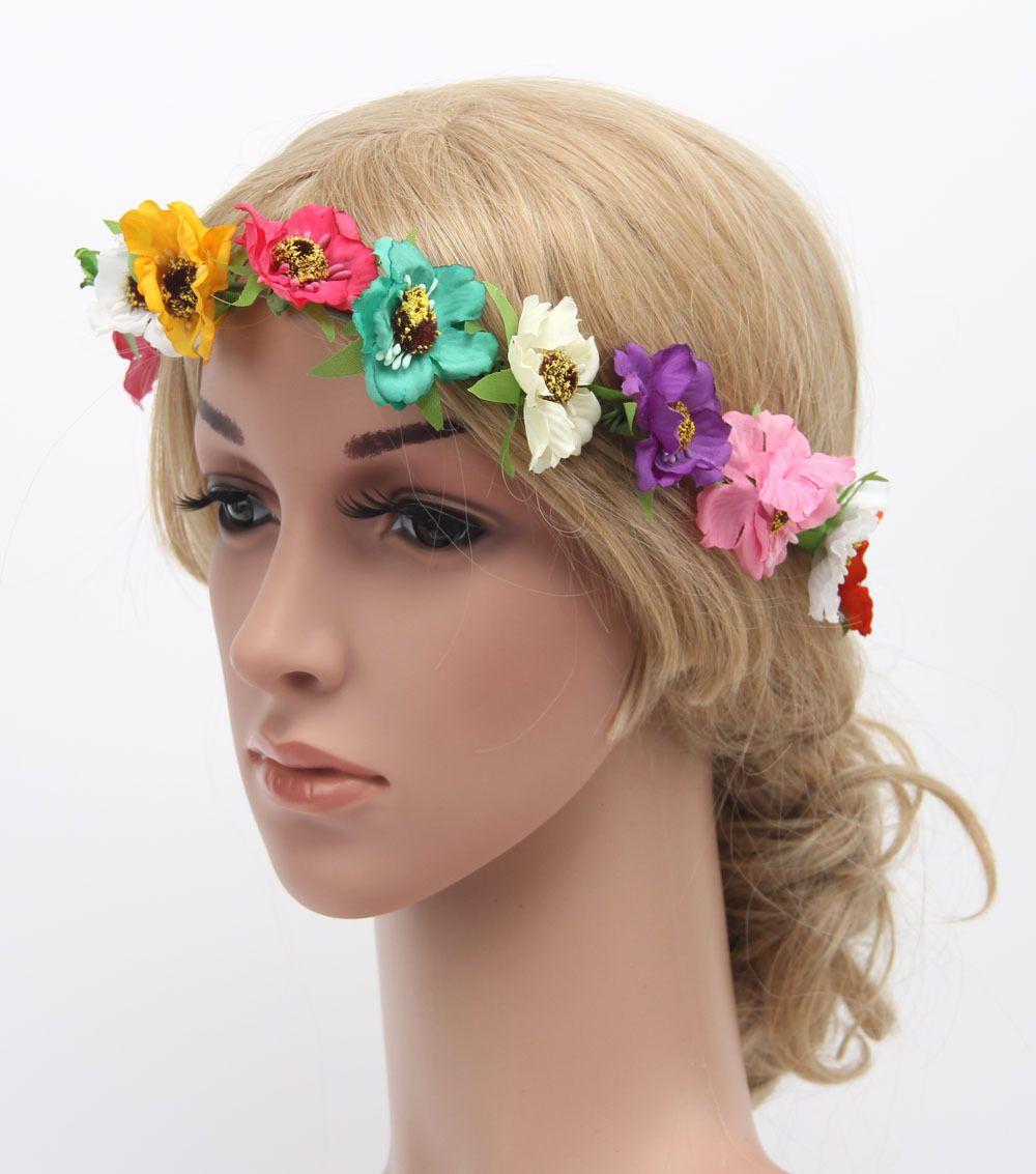 2018 flower crown festival headband wedding boho floral garland hair 2018 flower crown festival headband wedding boho floral garland hair band accessory from shan1207 2111 dhgate izmirmasajfo