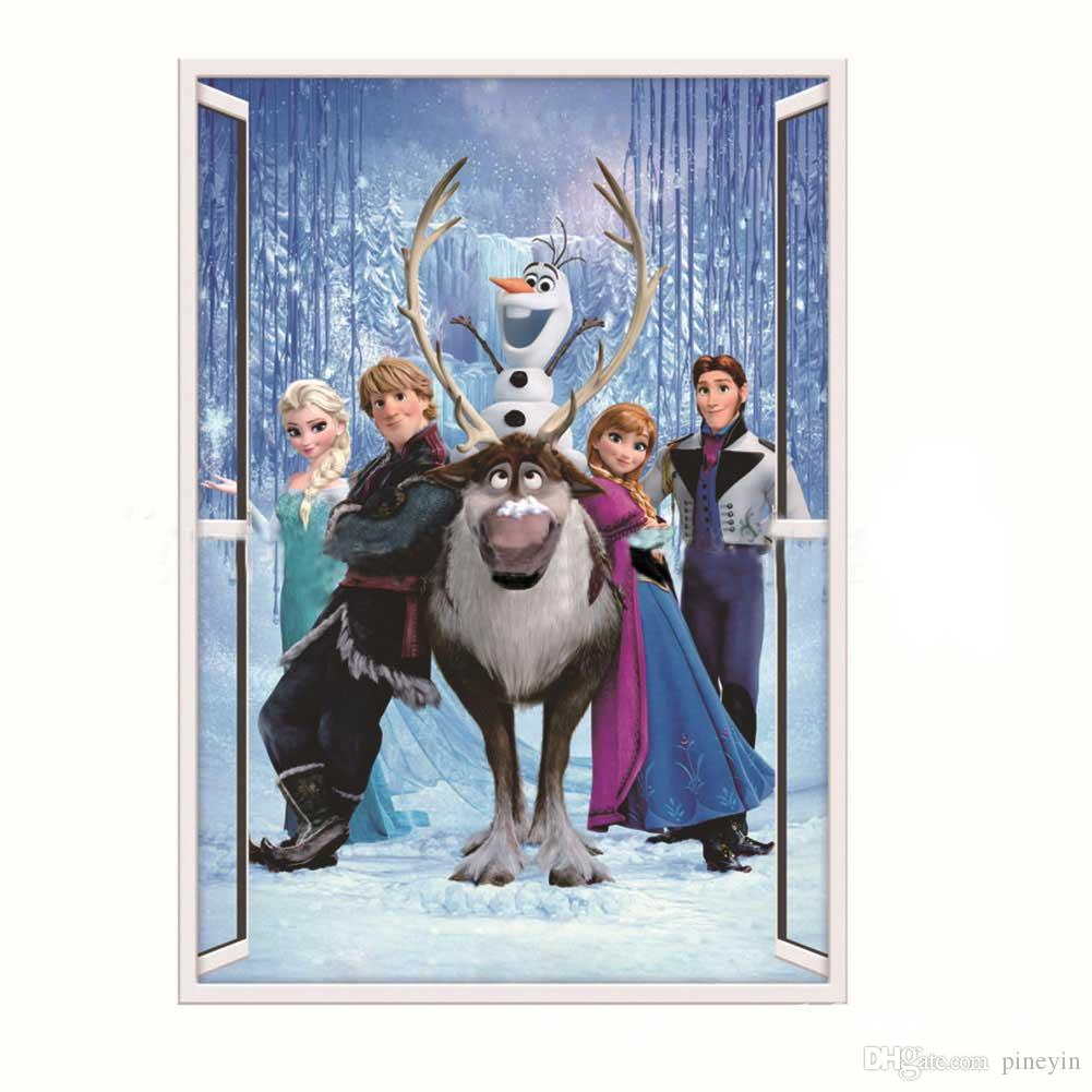 queen elsa deer prince frozen 3d wall stickers olaf decorative see larger image