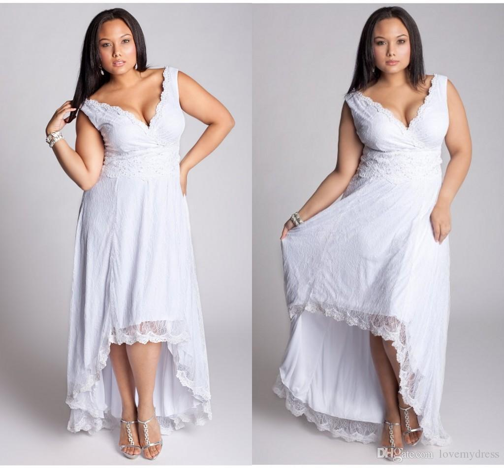 Discount Hi Lo Plus Size Wedding Dresses New Years Gowns Designer ...