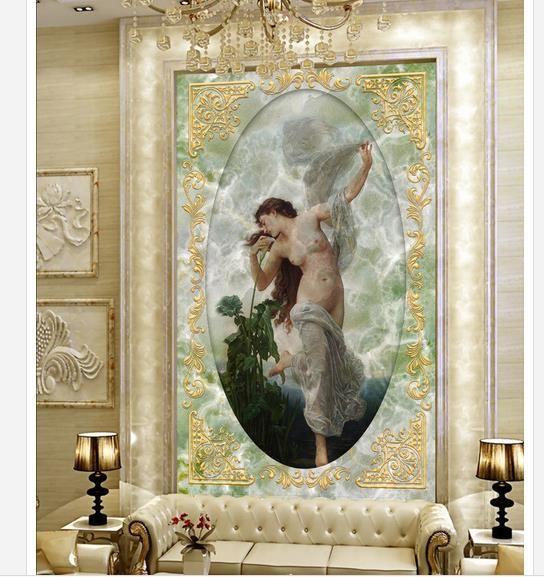 Großhandel 3d Wallpaper Europäischen Minimalistischen Schlafzimmer  Wohnzimmer Tv Hintergrund Malerei Mädchen 3d Streifen Abstrakte Wandbild  Tapete 20159457 ...