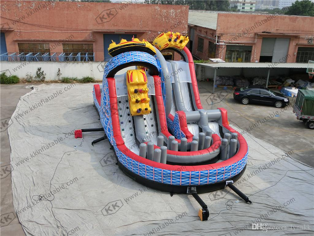 2017 giant inflatable dry slide for sale roller coaster theme