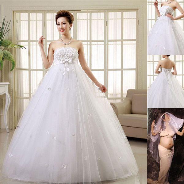 Discount Pretty Pregnant Wedding Dresses Women Married
