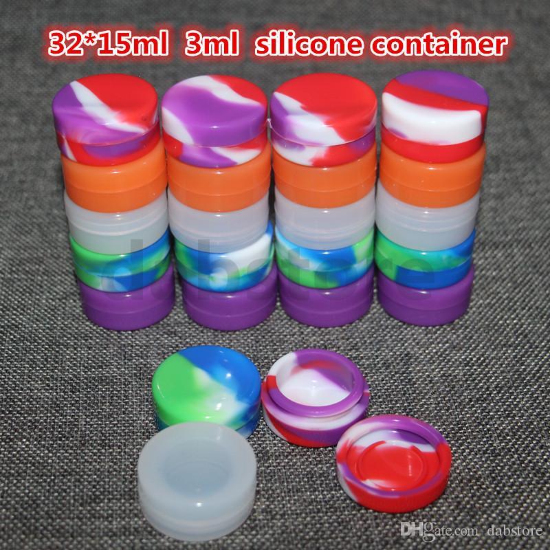 Silicon Container Jar Wax Concentrate 22ML 7ML 5ML 3ML Contenitori cera in silicone Vasetti in silicone vaso in silicone cera Dab Colore non solido