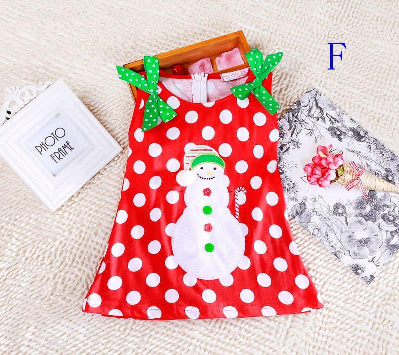 Mädchen Weihnachten Kleid Babys Kleidung Kinder Urlaub Kleidung Kinder Kleider für Mädchen Weihnachtsmann Schneemann gedruckt Kind Säugling Spitze Tutu Rock