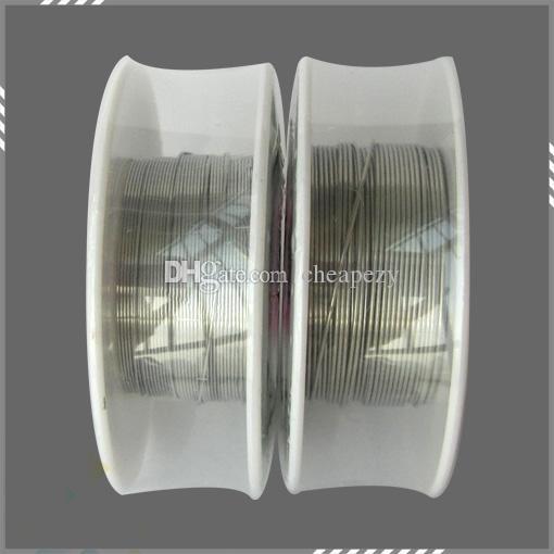 Nichrome 80 Draht 30 Fuß Spule AWG 22 24 26 28 30 32 Gauge Heizwiderstand Spule Wick für elektronische Zigarette Dhl-frei