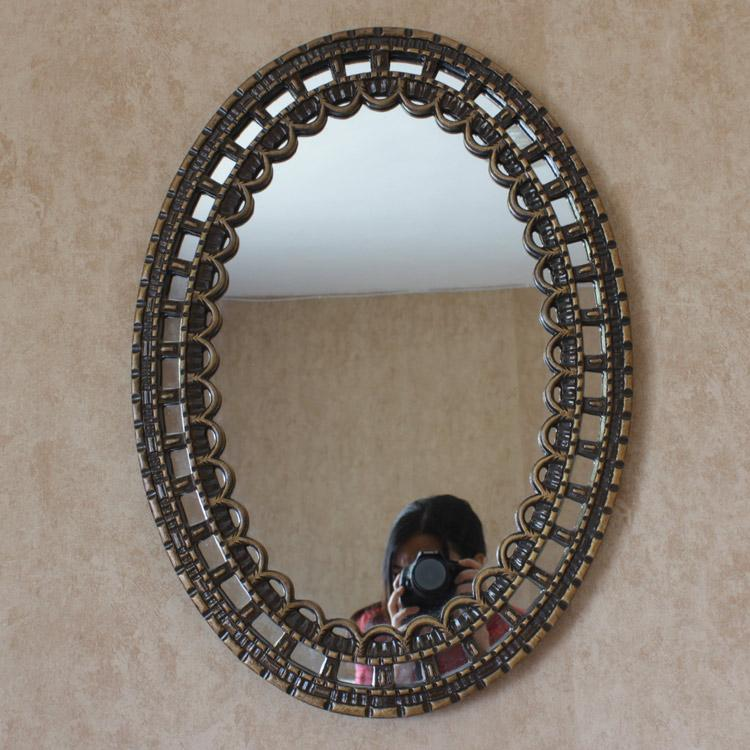 Factory Outlet Europe Type Waterproof Oval Mirror Bathroom Toilet Hanging Restoring Ancient Ways Long For Wall